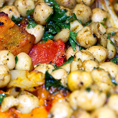 Roast Vegetables with chickpeas