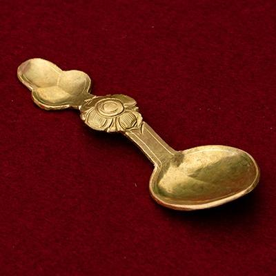 Ladakhi Hand Crafted Lotus Design Spoon