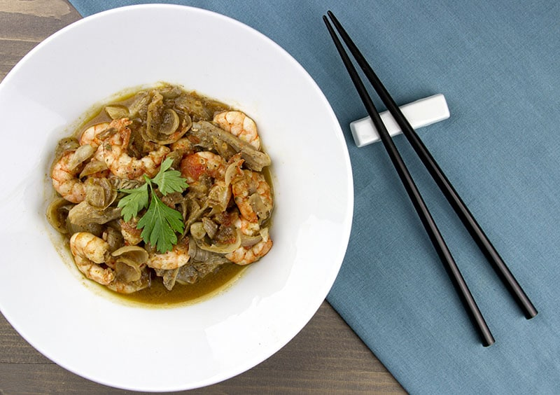 Chinese Prawns with Oyster Mushrooms