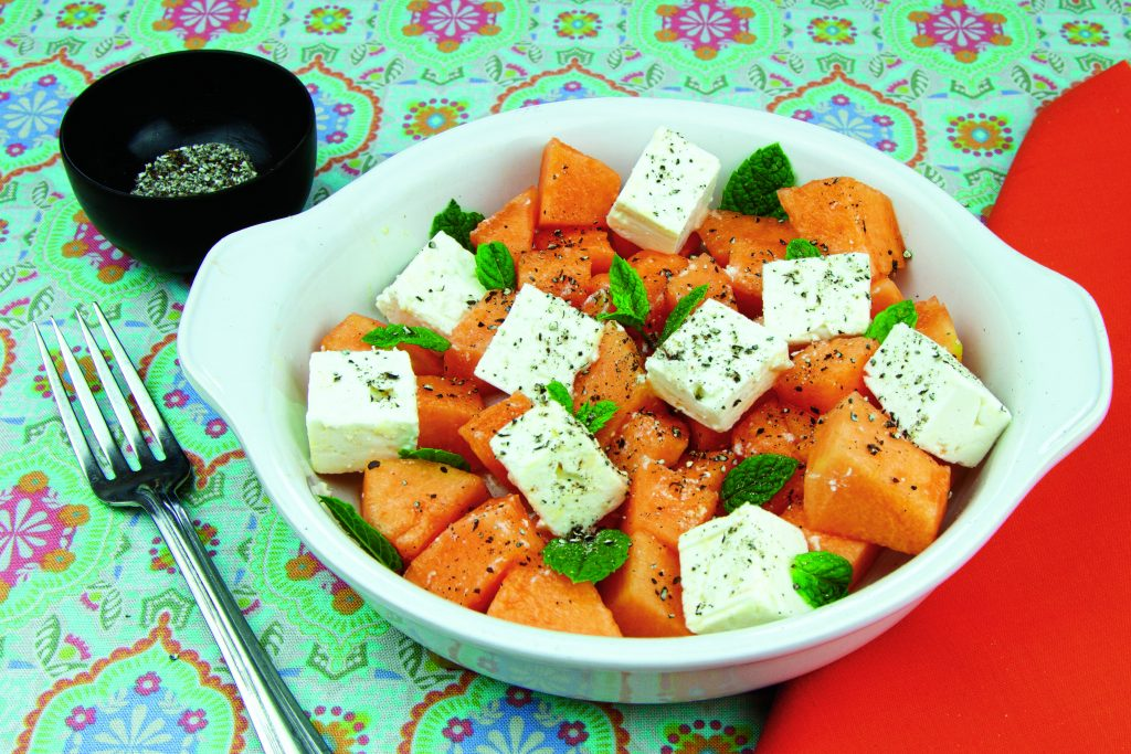 grains of paradise melon feta